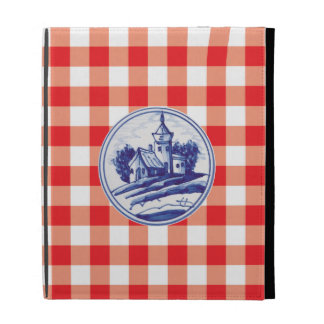 Dutch traditional blue tile iPad folio cover