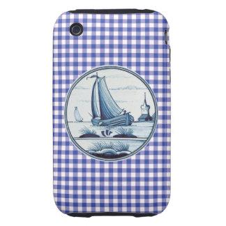 Dutch traditional blue tile tough iPhone 3 cases