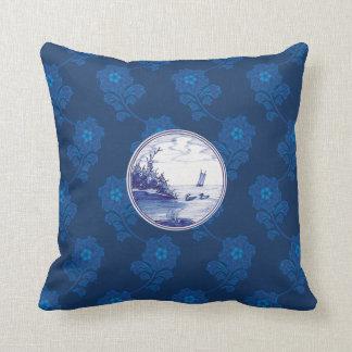 Dutch traditional blue tile pillows