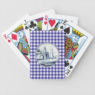 Dutch traditional blue tile deck of cards