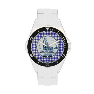 Dutch traditional blue tile watch