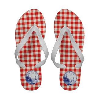 Dutch traditional blue tile sandals