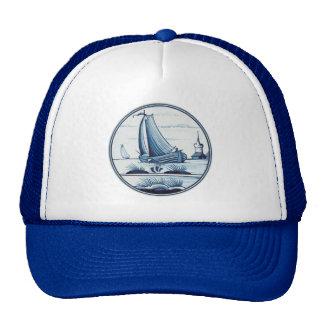Dutch traditional blue tile hat