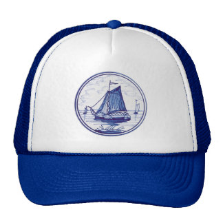 Dutch traditional blue tile trucker hats