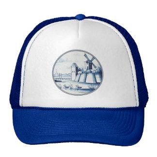 Dutch traditional blue tile hats