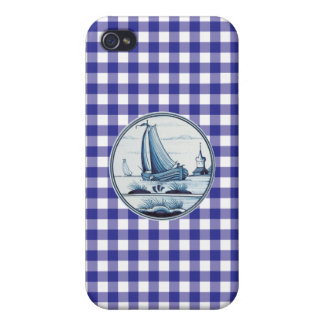 Dutch traditional blue tile covers for iPhone 4