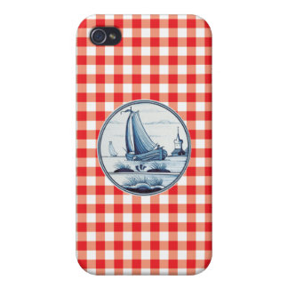 Dutch traditional blue tile cases for iPhone 4