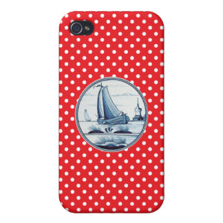 Dutch traditional blue tile iPhone 4 covers