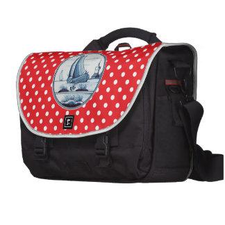 Dutch traditional blue tile laptop commuter bag