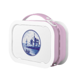 Dutch traditional blue tile lunch box