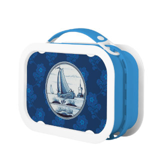 Dutch traditional blue tile lunch boxes