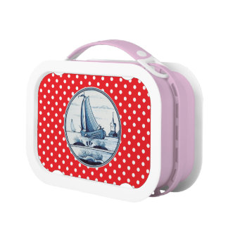 Dutch traditional blue tile yubo lunch boxes