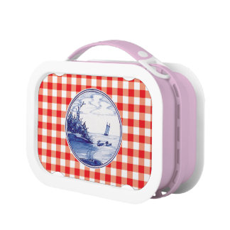 Dutch traditional blue tile lunchboxes