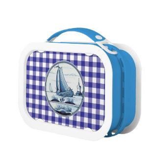 Dutch traditional blue tile lunchbox