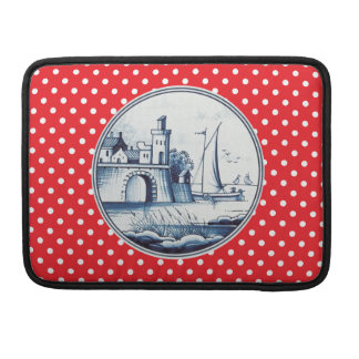 Dutch traditional blue tile sleeve for MacBooks