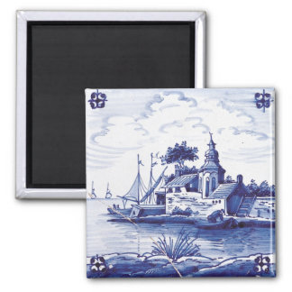 Dutch traditional blue tile magnets