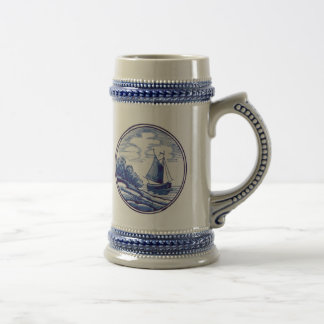 Dutch traditional blue tile coffee mugs