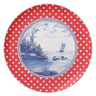 Dutch traditional blue tile party plate