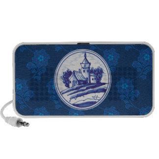 Dutch traditional blue tile travelling speaker
