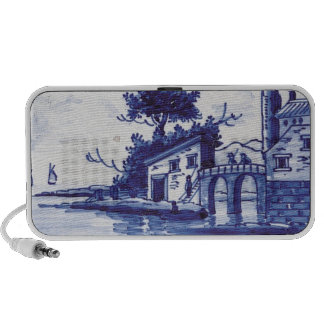 Dutch traditional blue tile mp3 speakers