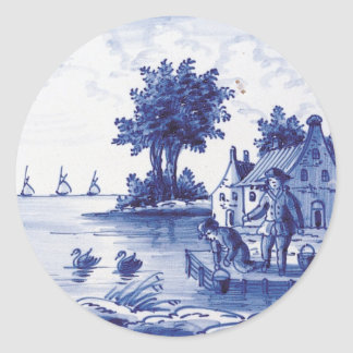 Dutch traditional blue tile stickers