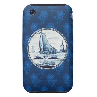 Dutch traditional blue tile tough iPhone 3 case