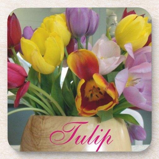 Dutch Tulips Bouquet Drink Coaster