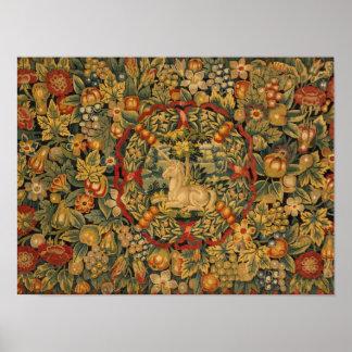 Dutch Unicorn Carpet Poster
