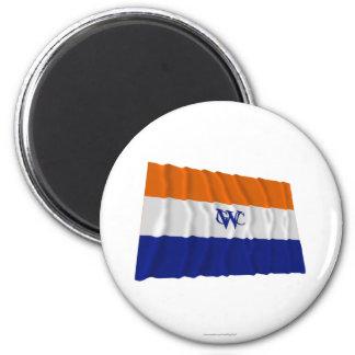 Dutch West India Company Flag 6 Cm Round Magnet