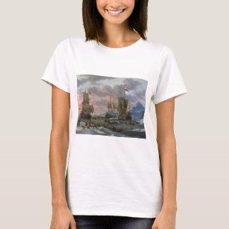 Dutch Whalers off a Rocky Coast T-Shirt