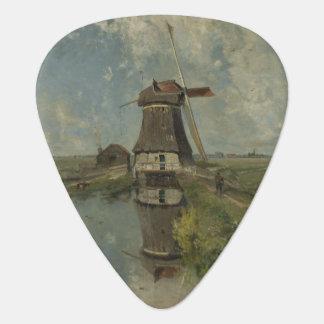 Dutch windmill on polder waterway Paul Gabriël Plectrum