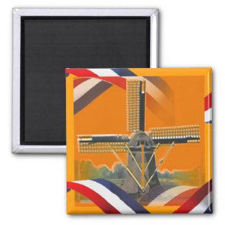 Dutch Windmill Red White Blue Orange Fridge Magnet