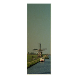 Dutch Windmill River Photo Bookmark Business Card
