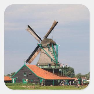 Dutch windmill village, Holland 3 Square Sticker