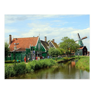 Dutch windmill village postcard