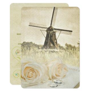 Dutch Windmill Wedding Invitation