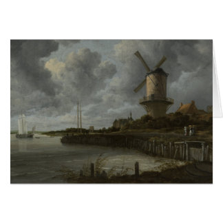 Dutch windmill Wijk bij Duustede, Ruisdael Card