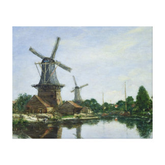 Dutch Windmills, 1884 Canvas Print