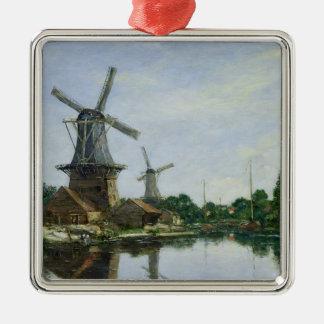 Dutch Windmills, 1884 Christmas Ornament