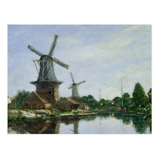 Dutch Windmills, 1884 Postcard