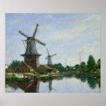 Dutch Windmills, 1884 Poster