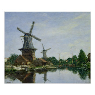 Dutch Windmills, 1884 Poster