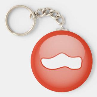 Dutch Wooden Shoe Basic Round Button Key Ring