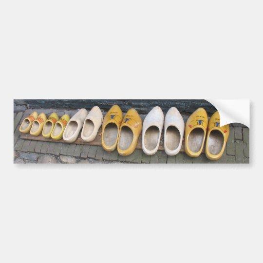 Dutch Wooden Shoes Clogs Bumper Sticker