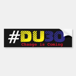 Duterte DU30 2016 Car Bumper Sticker