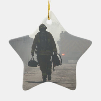 Duty Calls Ceramic Star Ornament