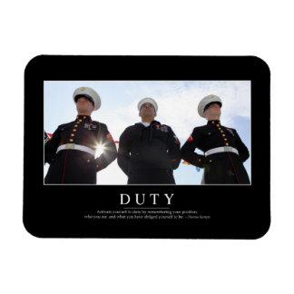 Duty: Inspirational Quote 2 Rectangular Photo Magnet