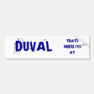 DUVAL BUMPER STICKER