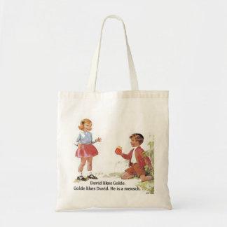 Duvid likes Golde. Budget Tote Bag
