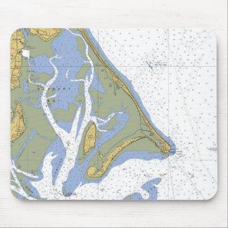 Duxbury MA Nautical Harbor Chart Mousepad